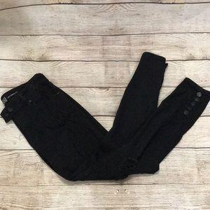 Re-wash Black Distressed Jeans